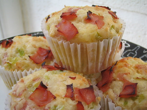 leek and ham muffins