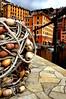Camogli_fishnets (Marcello Senatore) Tags: italy dock waterfront painted liguria traditions fishnets camogli nohdr flickriver