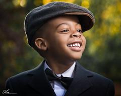 suit & Tie (Anthony. B) Tags: boy smile child happy fashion hat suit tie nikon d3100 55200mm bokeh