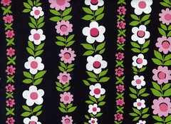 Sweet Floral interior fabric (SewcialButterfly) Tags: pink flowers black fabric gree overpriced joanns