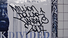now on view - million dollar vandal (street stars) Tags: nyc urban subway graffiti decay gothamist desa fuckartbombeverything mtastreetart