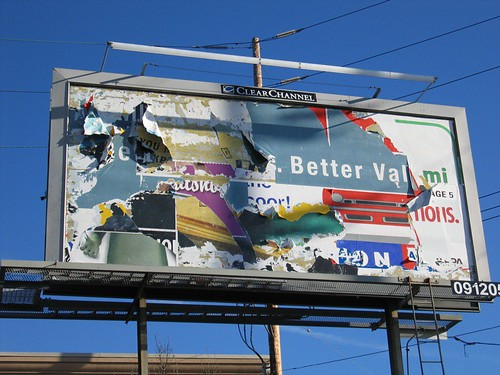 welll polluting environment destroyed billboard