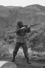 WWII 101st Airborne Paratrooper (10) (Templar1307) Tags: usa vintage army uniform gun military wwii explore ww2 airborne thompson machinegun reenactor usarmy 101st paratrooper m1a1 tsmg