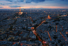 The most wonderful sunset (peter_panamint) Tags: paris france europe panorama availablelight explore interestingness night sunset sun tour tower skyscraper eiffel montparnasse 56 view belle vue city parigi parijs  frpix