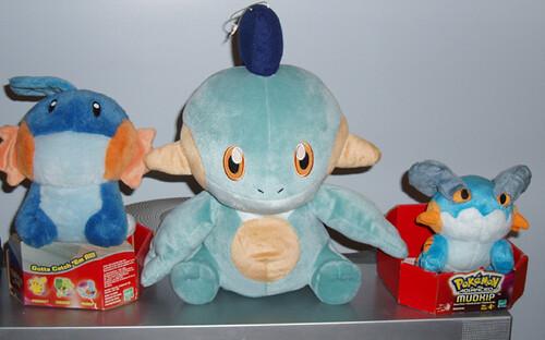 Mudkip, Marshtomp and Swampert stuffed Toys