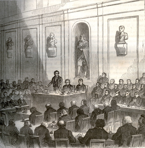 Arago bejelenti Daguerre találmányát a francia akadémián