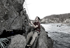 moi belaying (k2ski) Tags: me jeff rock wall river virginia great greatfalls falls climbing va granite potomac rockclimbing belay chrisler