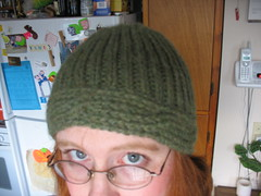 Cable-brim hat