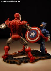 Captain America VS Iron Man (PowerPee) Tags: toys nikon philippines ironman actionfigures d200 marvel captainamerica fpc powerpee nikonstunninggallery