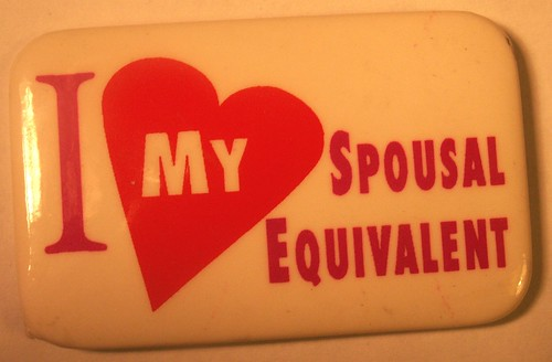 I Love My Spousal Equivalent Button