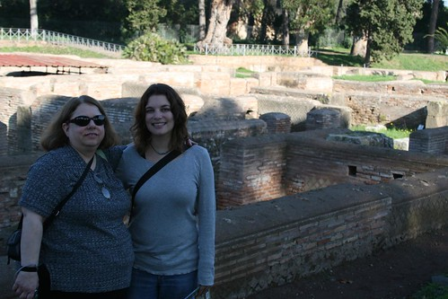 Me and Auntie at Ostia Antica