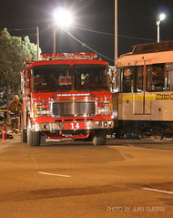 Metro Blue Line Train and LAFD Truck Collide. Photo by Juan Guerra CFPA. Click to view more...