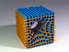 sliceform (Richard Sweeney) Tags: sculpture color colour art geometric paper paperart photography design fineart craft architectural papercraft papersculpture artsculpture paperstructure richardsweeney sliceforms