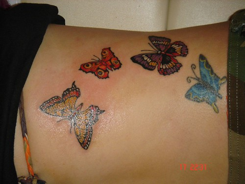 butterfly tattoo (Dejavu Tattoo Studio Chiangmai Thailand)