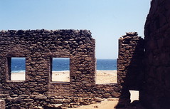 ocean2 (thosedarktrees) Tags: ocean beach ruins rocks mine desert aruba antilles goldmine