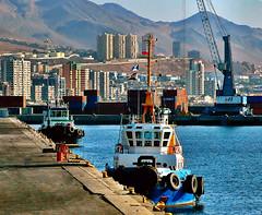 Antofagasta. Tugboats (Bracani....Antonio Ljubetic) Tags: chile puerto tugboat antofagasta remolcador