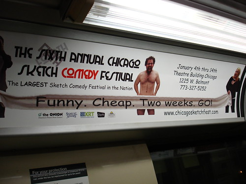 Chicago Sketch Fest ad on the CTA