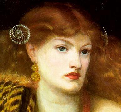 Rossetti, Mona Vanna (detail) 1866
