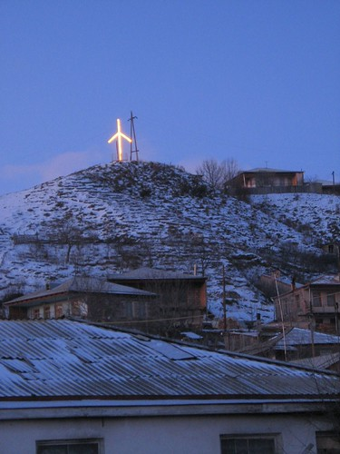 Orthodox Christian cross in Ude, Georgia