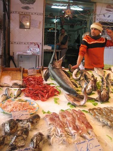 Fish stand, Mercato il Capo