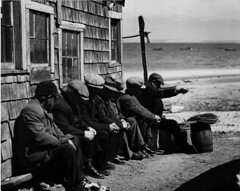 Portuguese dory fishermen gossiping in the sun (John Collier Jr.) Tags: blackandwhite bw usa history classic film museum america vintage collier us photographer unitedstates propaganda wwii documentary patriotic roosevelt historic professional worldwarii 1940s archives maxwell ww2 americana civildefense patriotism archival forties largeformat anthropology homefront worldwar2 40s fsa wartime newdeal owi waryears farmsecurityadministration officeofwarinformation johncollierjr