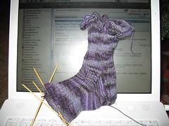 Black Purl Marietta Rib Sock