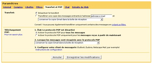 activation de l'option pop dans gmail