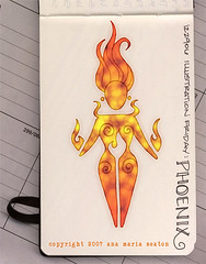 Illustration Friday: Phoenix (after) (renmeleon) Tags: art moleskine phoenix reporter illustrationfriday if ria renmeleon renfolio