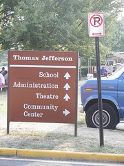 Sign, Thomas Jefferson Middle School & Community Center