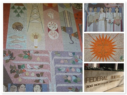 The tile mural at the federal building in downtown LA