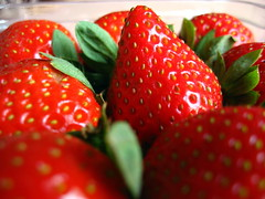 'Corporate Life' (2) -- I've got a question! (light_artist) Tags: stilllife food india macro nature fruits strawberry experiment picasa strawberries canonpowershota540 bsbbokeh