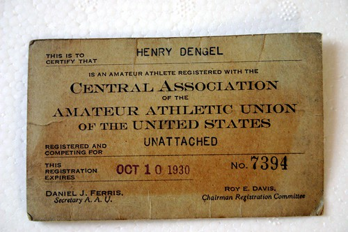Henry Dengels Membership Card