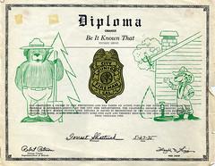 Smokey Bear Diploma