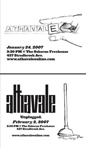2 handbills, 2 shows