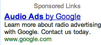 Google Ad for Audio Ads