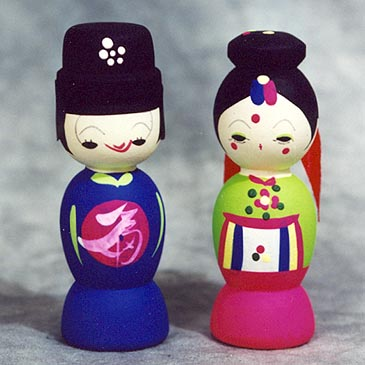 Korean wedding dolls