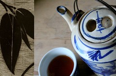 tea (jelens) Tags: blue leaves diptych tea duo duet det té chá díptico photoduet