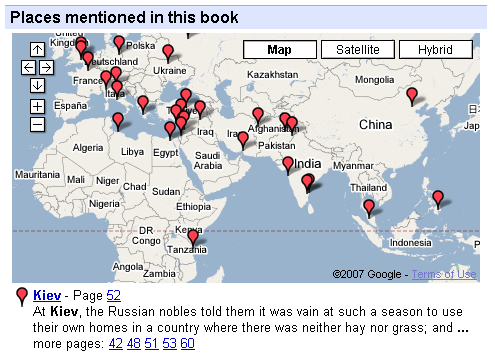 Books mapped