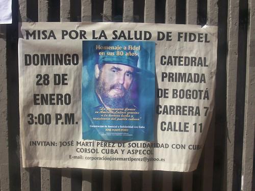 Misa por la salud de Fidel Castro