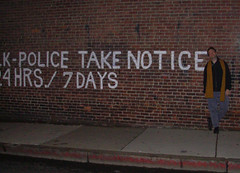 police take notice: wall