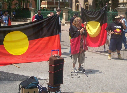 Sister Vicky speaks - Invasion Day Rally and March, Parliament House, George St, Brisbane, Queensland, Australia 070126