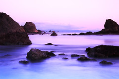 S!lk (| HD |) Tags: ocean desktop windows sunset wallpaper seascape 20d water oregon canon landscape coast long exposure photoshoot pacific northwest silk violet microsoft vista layers hd darwish hamad brookings