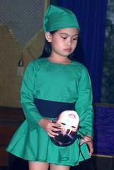 The goblinade (Vivencio Flores) Tags: green girl child mask young shy cutie goblin pensive poignant