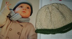 Seed Stitch Hat with Pattern Photo