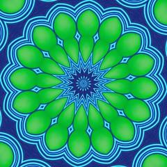 Green-blue 3D mandala (Marco Braun) Tags: blue green photoshop 3d catchycolours optical kaleidoscope vert bleu explore textures illusion colourful grn blau dogen kaleidoscopes opart kaleidoskop  texturen optische tuschung  explored kalidoscope couleures kaleidoscopesonly