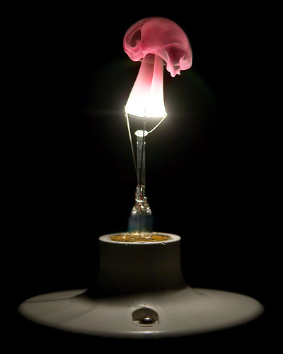 lightbulb burning out