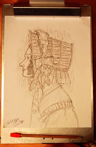 Woman in Bonnet, Ca. 1848-1851