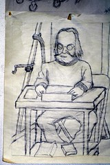 Reading Coetzee (TedSher) Tags: reading student drawing adolfhitler normanmailer 2007 feb8 jmcoetzee