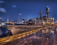 Icelandic Battleship - Protecting the Whales (Stuck in Customs) Tags: cold night photography coast iceland chopper nikon photographer guard d2x reykjavik helicopter danish battleship cruiser hdr triton icelandic highquality d2xs stuckincustoms imagekind treyratcliff focuspocus stuckincustomsgooglescreensaver