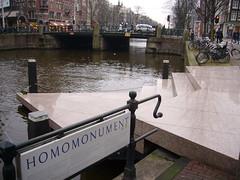 Homomonument (QXZ) Tags: gay amsterdam lesbian memorial homo tribute homosexual publicart keizersgracht homomonument pinktriangle february2007